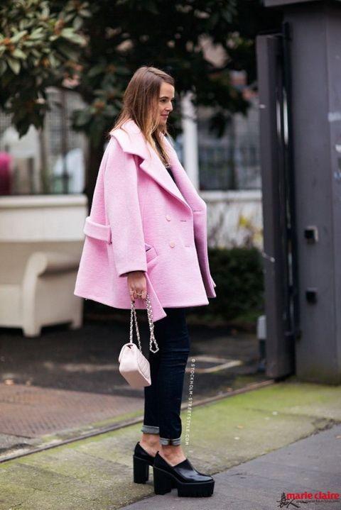 夏末也要扮粉嫩 粉色街拍根本停不下来